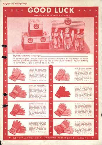 JOFA Oskar Handskar Jofa Good luck work gloves 0461