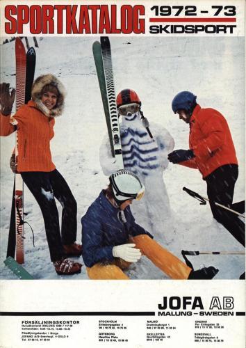 JOFA Oskar Längdåkning jofa sportkatalog 1972-73 Skidsport 0088
