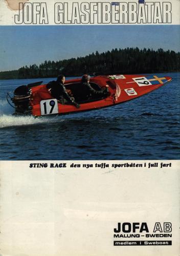 JOFA Oskar Sportbåtar Jofa glasfiberbåtar Sting 0493