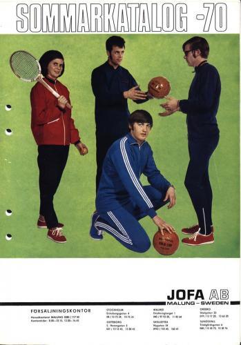 JOFA Oskar Träningskläder och skor Jofa Sommarkatalog 1970 0502