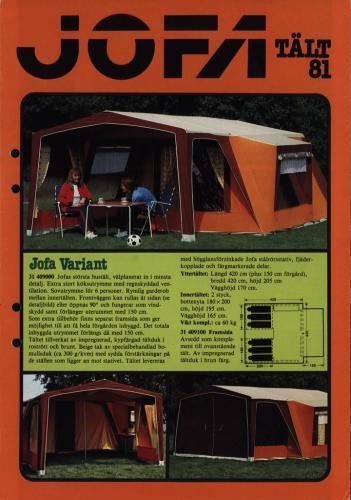 JOFA Volvo Camping & Tält Jofa tält 81 0163