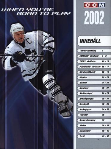 JOFA Volvo Hockey Ccm jofa koho hockeyutrustning 2002 0009