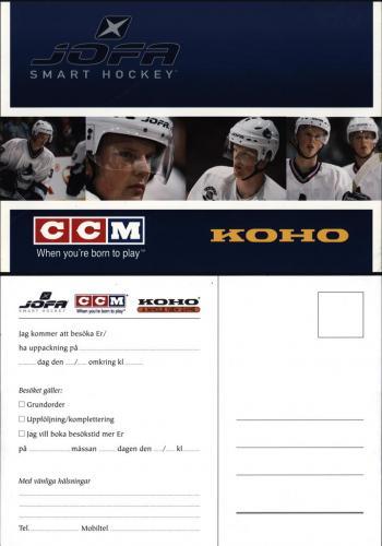 JOFA Volvo Hockey Infokort uppackning jofa ccm koho 0013