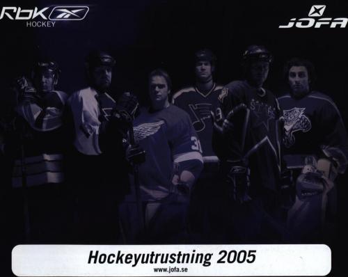 JOFA Volvo Hockey Rbk jofa Hockeyutrustning 2005 0018