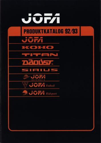 JOFA Volvo Hockey Jofa produktkatalog 92-93 0218
