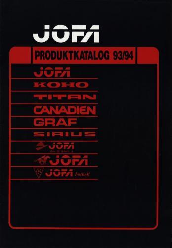 JOFA Volvo Hockey Jofa produktkatalog 93-94 0223