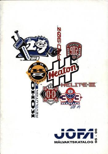 JOFA Volvo Hockey Jofa målvaktskatalog 95-96 0239