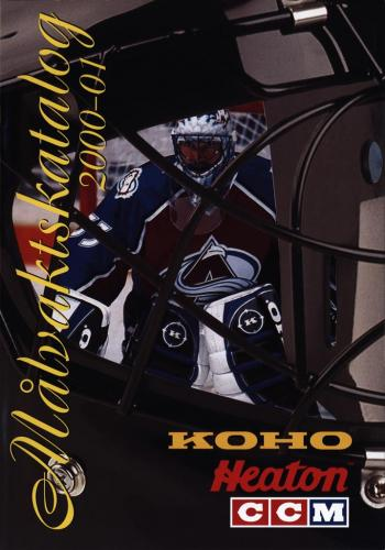 JOFA Volvo Hockey Koho heaton ccm målvaktskatalog 2000-01 0293