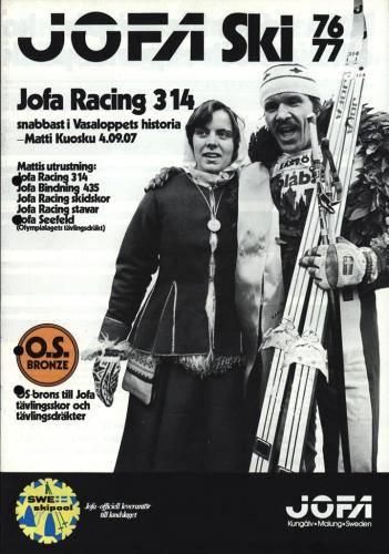 JOFA Volvo Längdåkning Jofa ski 76-77 Jofa racing 314 0120