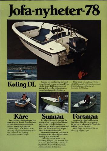 JOFA Volvo Sportbåtar Jofa-nyheter 78 0055